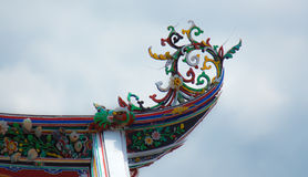 kinesiskt garneringtaktempel Arkivbild