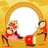 Kinesiskt hälsningskort för nytt år Arkivbild
