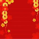 Kinesiskt hälsningskort för nytt år Arkivbilder