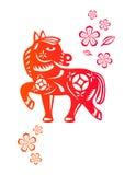 kinesiskt hästår vektor illustrationer
