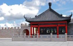 kinesiskt hus Fotografering för Bildbyråer