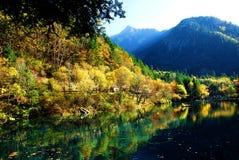 Kinesiskt Jiuzhaigou landskap Arkivbild