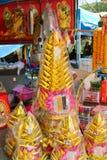 Kinesiskt Josspapper/guld- och silverpapper i kinesisk kultur royaltyfri fotografi