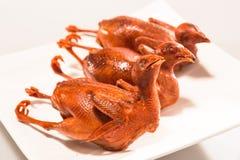 Kinesiskt kött - kokt vaktel Arkivfoton