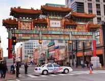 Kinesiskt kamratskap utfärda utegångsförbud för Washington DC Chinatown Royaltyfria Foton