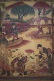 Kinesiskt keramiskt ljus för garneringdag Arkivbild