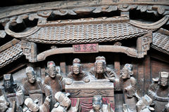 Kinesiskt konstnärligt snida Arkivbild