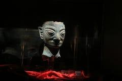 Kinesiskt kulturföremål i sanxingduimuseet, sichuan, porslin arkivbilder