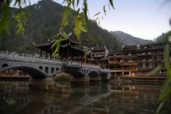 Kinesiskt landskap för forntida stad Royaltyfri Bild