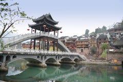 Kinesiskt landskap för forntida stad Arkivfoto