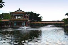 Kinesiskt landskap för forntida stad Arkivbilder