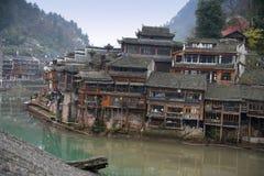 Kinesiskt landskap för forntida stad Royaltyfri Fotografi