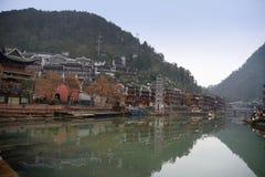 Kinesiskt landskap för forntida stad Fotografering för Bildbyråer