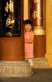 kinesiskt le för flicka Arkivbild