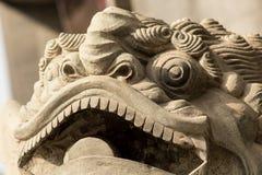 Kinesiskt lejon - turist- dragning Arkivbild