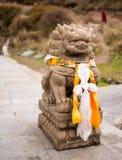 Kinesiskt lejon - turist- dragning Royaltyfria Bilder