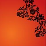 Kinesiskt lotusblommaramkort stock illustrationer