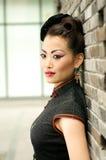 kinesiskt model utomhus- Royaltyfria Foton