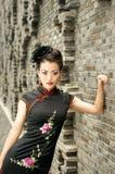 kinesiskt model utomhus- Arkivfoto