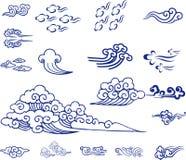 Kinesiskt molnmaterial Royaltyfri Bild