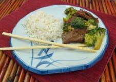 Kinesiskt nötkött och broccoli Royaltyfri Fotografi