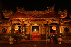 kinesiskt nattplatstempel Royaltyfri Bild