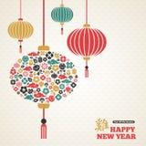 Kinesiskt nytt år asiatisk lyktalampa Royaltyfri Fotografi