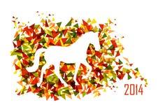 Kinesiskt nytt år av mappen för hästformtriangel EPS10. Royaltyfri Bild