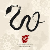Kinesiskt nytt år av ormen Arkivfoto