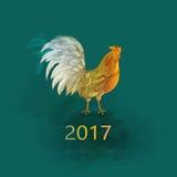 Kinesiskt nytt år av tuppen Vektor Illustrationer