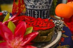 kinesiskt nytt år för cake Royaltyfri Fotografi