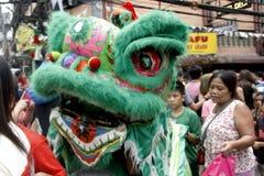 Kinesiskt nytt år i den Manila kineskvarteret arkivbild