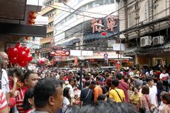 Kinesiskt nytt år i den Manila kineskvarteret royaltyfri fotografi