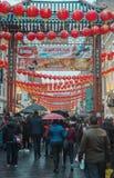 Kinesiskt nytt år 2017 i kineskvarter London UK Royaltyfria Foton
