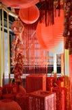 Kinesiskt nytt år i Shanghai Arkivbild