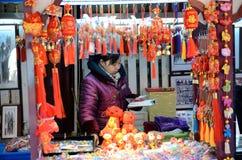 Kinesiskt nytt år i Shanghai Arkivfoton