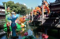 Kinesiskt nytt år i Shanghai Arkivbilder