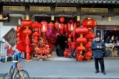 Kinesiskt nytt år i Shanghai Royaltyfria Bilder