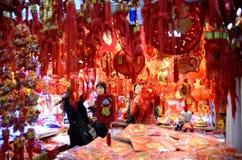 Kinesiskt nytt år i Shanghai Arkivfoto