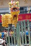 Kinesiskt nytt år lejondansen Arkivfoto