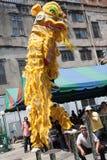 Kinesiskt nytt år lejondansen Arkivfoton