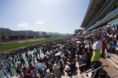 Kinesiskt nytt år Raceday i Hong Kong Arkivbilder
