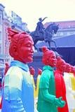 Kinesiskt nytt år 4713., Zagreb, Kroatien Fotografering för Bildbyråer