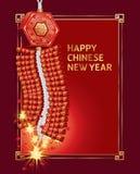 Kinesiskt nytt år för brandsmällare. Fotografering för Bildbyråer
