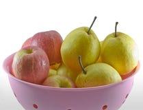 Kinesiskt päron och chainese äpple Arkivfoto