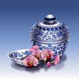 Kinesiskt porslin stock illustrationer