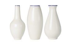 kinesiskt porslin shapes olika vases arkivfoto