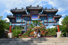 kinesiskt porttempel Arkivbild