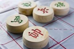 Kinesiskt schack Fotografering för Bildbyråer