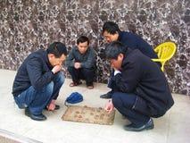 Kinesiskt schack för vänlek tillsammans Arkivfoton